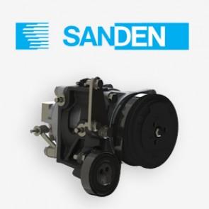 Sanden SD7B10  7172 PV6 12v Body 3/4 x 7/8 Alt POE68 Oil